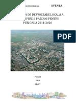 STRATEGIA DE DEZVOLTARE A MUNICIPIULUI PASCANI , 2014- 2020 - PROIECT