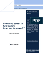 From One Sudan to Two Sudan - Musso