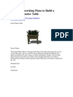 Plans to Build a Raised Planter Table