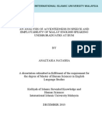 An Analysis of Accentedness in Speech and Employability of Malay English Speaking Undergraduates at IIUM