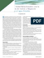 Aspectos de Salud Relacionados Con La Presencia de CA y Mg