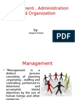 Management , Administration and Organization