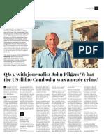 Q&A with journalist John Pilger