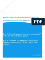 Government Response - Changes to Solar PV