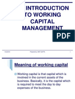 intro to working capital