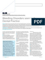 Bleeding Disorders Seen in the Dental Practice