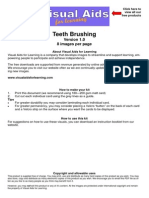VisualAids TeethBrushing 8 Images Per Page Οδηγός Βουρτσίσματος