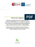 Linee Guida Bonnes Pratiques Montagnes Maghreb