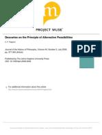 CP Ragland - Descartes on the Princple of Alternative Possibilities