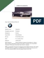 External factors for BMW