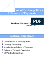 Determination of Exchange Rates & Balance of Payments