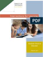 Interventions Program Crawley 2014