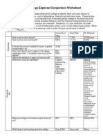 college comparison worksheet