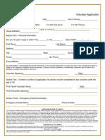 distribution center volunteer application