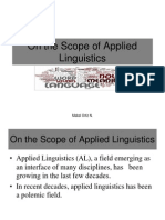 On the Scope of Applied Linguistics.ppt