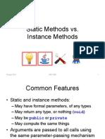 static vs Instance Methods