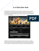 code clash of clans gems hack activation