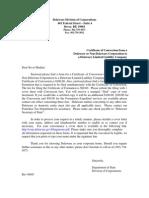 DE or Non-DE Corp to DE LLC09 - Certificate of Conversion.pdf