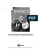 Physics Critical Thinking Worksheets