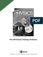 Physics Critical Thinking Worksheets