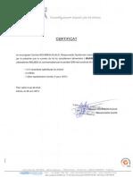 Certificat attribution n°lot MAXIBUST