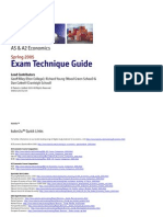 Economics Exam Technique Guide