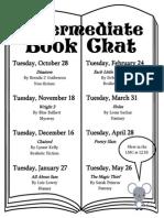 Intermediate Book Chat 14-15