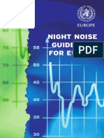 WHO Night Noise Guidelines for Europe