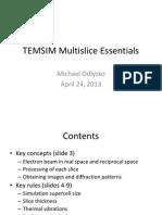 TEM Multislice Simulation tutorial