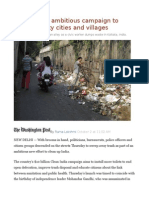 India Begins Ambitious Campaign to Clean Up Dirty Cities and Villages