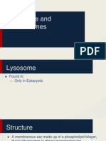 lysosome and peroxisomes