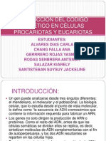 TRADUCCIÓN DEL CODIGO GENÉTICO EN CÉLULAS PROCARIOTAS Y EUCARIOTAS.ppt