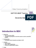 BDC û Batch Data Communication