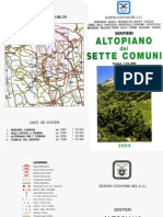 Libretto Sentieri Altopiano Dei Sette Comuni