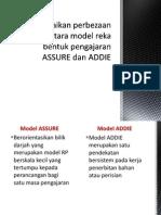 Perbezaan Model Reka Bentuk ASSURE Dengan ADDIE