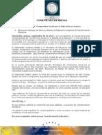 06-09-2011 Guillermo Padrés acompañado del secretario de la SEP Alonso Lujambio Irazabal encabezaron la firma de convenio con la que se formalizo la conformación del Consejo Estatal del Compromiso Social. B091122