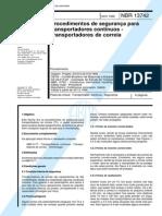 NBR 13742 - Procedimentos de seguranca para transportadores continuos - Transportadores de correi.pdf
