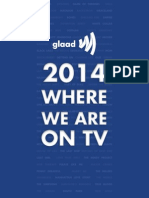 Glaad 2014 Where We Are on TV