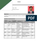 Ravish Prakash Cv