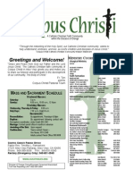 Corpus Christi Sunday Bulletin March 15-16, 2014