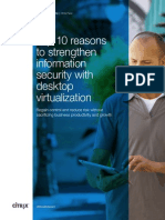 Top 10 reasons to strengthen information security with desktop virtualization