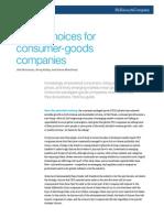 Tough Choices for Consumer-goods Companies (1)