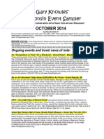 Gary Knowles' Wisconsin Events Sampler, October 2014