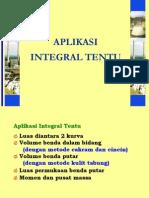 Aplikasi Integral Tak Tentu