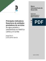 Principales Indicadores Financieros de Entidades Prestadoras de Servicio de Agua Potable y Saneamiento en América Latina y El Caribe