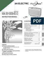 Air Purifier Instructional Manual - Mitsubishi - Unique Indoor Comfort