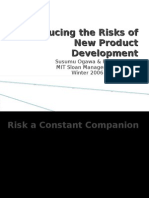 Reducing the Risks of New Product Development