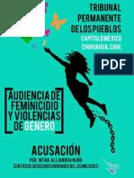 Acusación de audiencia feminicidio y violencias de género TPP