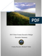 Ulster County 2015 Budget - Executive Summary