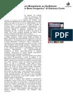 "1 Ottobre 2014 - su QUISALENTO, Laura Mangialardo recensisce ""Carmelo Bene inorganico"", di Gianluca Conte"